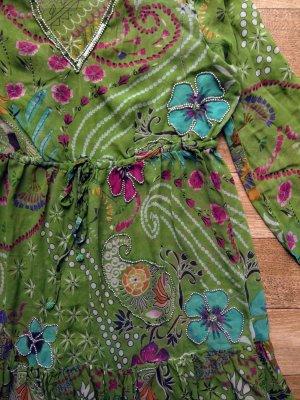 MALVIN  Tunika/ Kleid reine Seide + Perlen bestickt