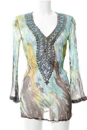 Malvin Tunikabluse abstraktes Muster Elegant