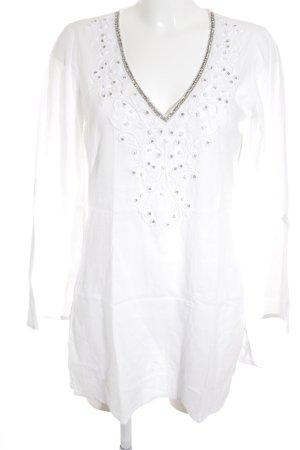 Malvin Tunikabluse weiß florales Muster Boho-Look