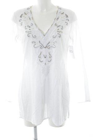 Malvin Tunikabluse weiß-silberfarben Hippie-Look