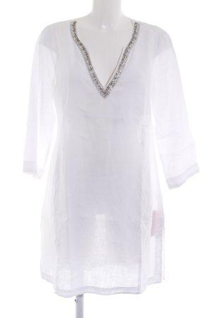 Malvin Tunic Dress white-silver-colored beach look