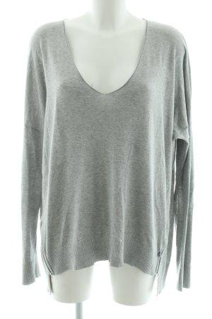 Malvin V-Ausschnitt-Pullover khaki meliert Casual-Look