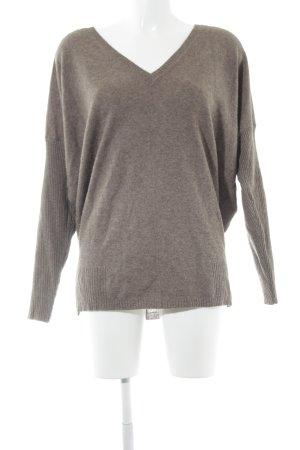 Malvin V-Ausschnitt-Pullover graubraun Casual-Look