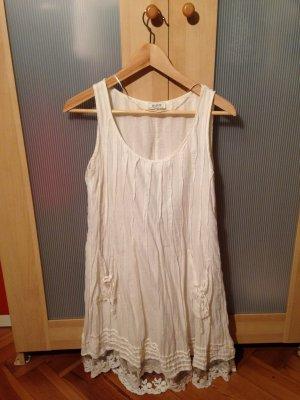 MALVIN Weißes kurzes Sommerkleid Gr. S-M