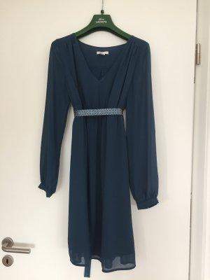 H&M Robe chiffon bleu pétrole