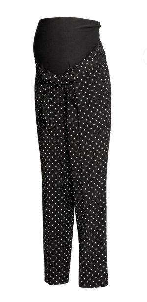 H&M Pantalón elástico negro-blanco