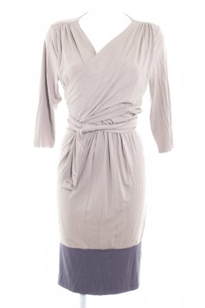 Mama licious Jersey Dress camel-slate-gray color blocking minimalist style