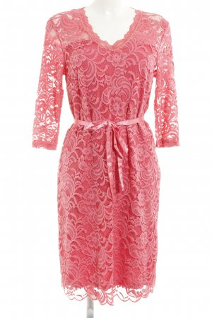Mama licious Spitzenkleid pink Blumenmuster Elegant