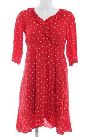 Mama licious Vestido cruzado rojo-blanco estampado a lunares Estilo playero