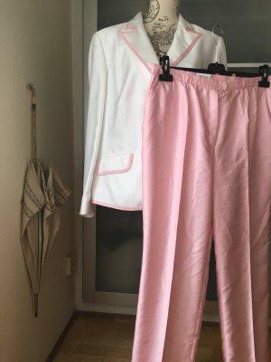 Basler Tailleur-pantalon blanc-rosé polyester