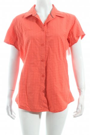 Mammut Kurzarm-Bluse rot Karomuster Casual-Look
