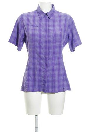 Mammut Shirt met korte mouwen geruite print extravagante stijl