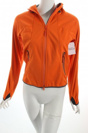 Mammut Softshelljacke orange-hellgrau sportlicher Stil