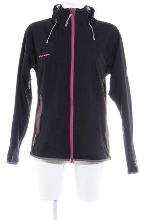 Mammut Softshelljacke schwarz-pink sportlicher Stil