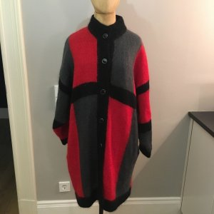 Knitted Coat multicolored mohair