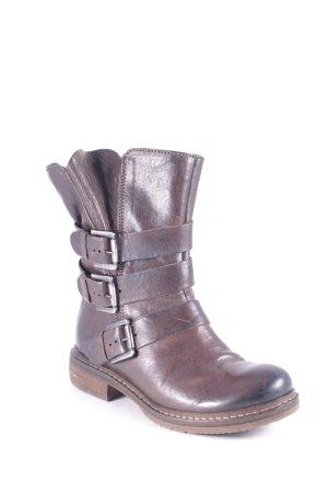 Manas Boots dunkelbraun Biker-Look