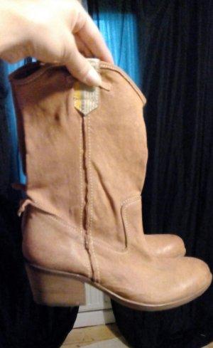 Manas Boots/Stiefel Echtleder 38