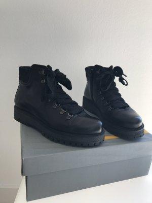 Manas Boots Stiefel Leder Schnürstiefel