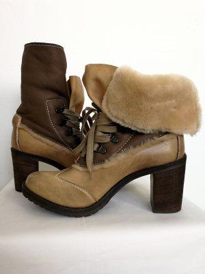 Manas Winter Booties brown-beige