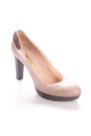 Manas High Heels graubraun-braun klassischer Stil