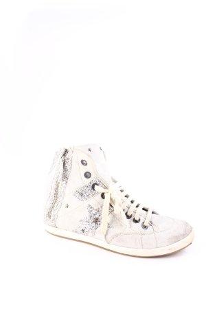 Manas High Top Sneaker hellgrau-silberfarben extravaganter Stil