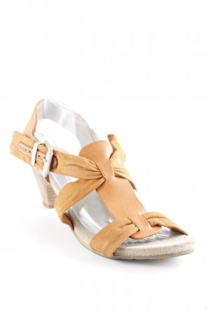 Manas Strapped High-Heeled Sandals cognac-coloured-beige casual look