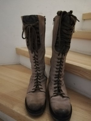 Manas Aanrijg laarzen beige