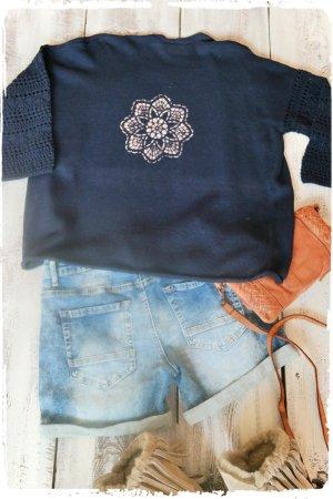Crochet Cardigan dark blue