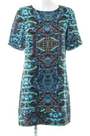 Mandala Kurzarmkleid mehrfarbig schlichter Stil