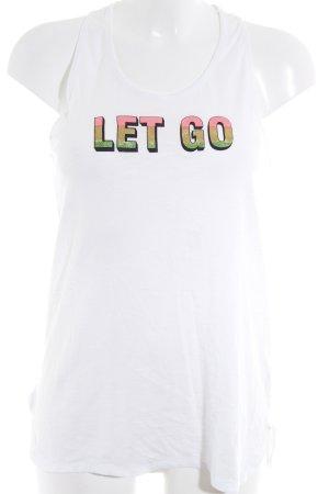 Mandala Tanktop weiß Schriftzug gedruckt sportlicher Stil