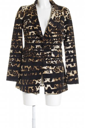 Mandarin Long-Blazer Animalmuster Business-Look
