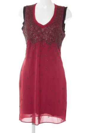 Mandarin Mini Dress dark red-black extravagant style