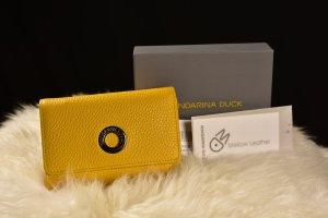Mandarina Duck Portefeuille jaune cuir