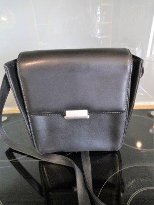 Mandarina Duck Lederhandtasche schwarz