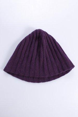 Mandarina Duck Chapeau en tricot violet foncé laine