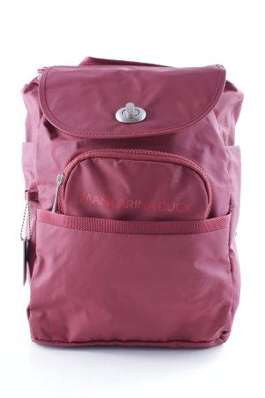 Mandarina Duck Trekking Backpack dark red simple style