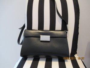 Mandarina Duck Umhaengetasche Schultertasche in schwarz mit Silberdetails