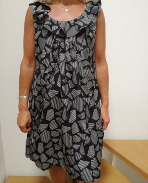 Mandi Kleid schwarz grau gemustert mit Taschen Gr.36