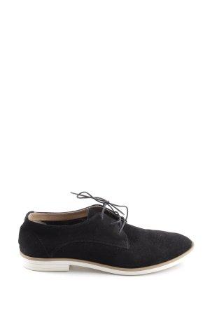 Manfield Budapest schoenen zwart zakelijke stijl
