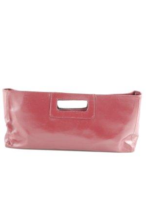 Manfield Handtasche dunkelrot klassischer Stil