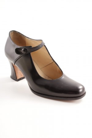 Manfield Mary Jane Pumps schwarz Elegant