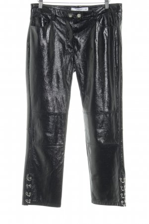 Mango Pantalon 7/8 noir Look de motard