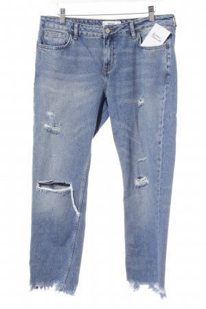 Mango 7/8-jeans blauw casual uitstraling