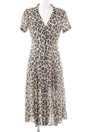 Mango A-Linien Kleid Animalmuster Casual-Look