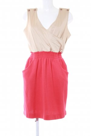 Mango A-Linien Kleid beige-rot Business-Look
