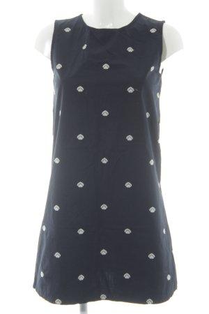 Mango A-Linien Kleid dunkelblau-weiß Casual-Look