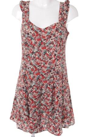 Mango A-Linien Kleid florales Muster Boho-Look