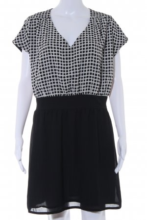 Mango A-Linien Kleid schwarz Punktemuster Casual-Look