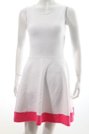 Mango A-Linien Kleid weiß-pink Casual-Look