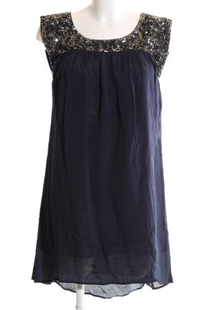Mango Abendkleid blau-bronzefarben Elegant
